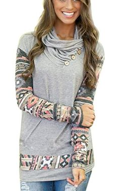eshion Women Long Sleeve Casual Loose Floral Print Cotton Tops Shirt Blouse  Material: Cotton blend, Polyester Collar: O-neck,Sleeve: Long Sleeve  Pattern: ...