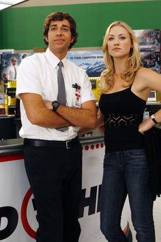 Zachary Levi (Chuck Bartowski) & Yvonne Strahovski (Sarah Walker)  Move over Jim and Pam