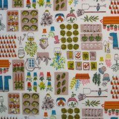 Tissu japonais thème jardin