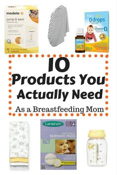 This list contains the 10 products I actually used when breastfeeding my baby! There are many on the market, but these are the things you really need!