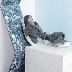 Felt bow skate shoes | Joshua Sanders