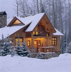 They call it a cabin... I would call it a home.