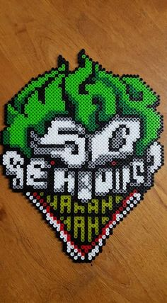 Why So Serious? - The Joker perler beads by LadyRaveicorn