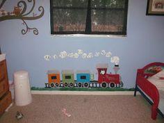 Train idea for little boy room