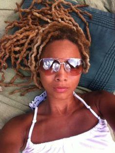 #locs #dreads #dreadlocks - chillin in her sunglasses