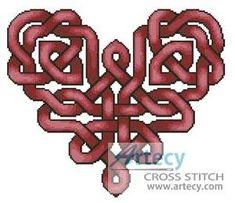 Celtic Heart cross stitch pattern.