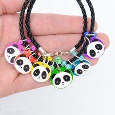 Shrinky Dink panda charms - make your own charms out of shrink film - DIY bracelet - make your own charm bracelet - panda crafts