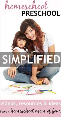 This mom has done homeschool preschool FOUR TIMES now and gets how to keep homeschool preschool simple, easy and FUN! You've got to see her awesomely simple methods and resources... she shows you through several VIDEOS in this post!!