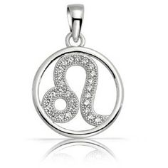 Sterling Silver Micro Cubic Zirconia Leo Zodiac Sign Pendant ($11) ❤ liked on Polyvore featuring jewelry, pendants, bling jewelry deals, clear, sterling silver lion pendant, clear crystal pendant, sterling silver jewelry, polish jewelry and cz jewelry