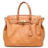 Designer Inspired London Office Tote Ostrich Finish