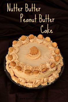 Nutter Butter Peanut Butter Cake {Tastes of Lizzy T} For only the serious peanut butter lovers! This cake was amazing!
