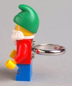 LEGO minifigure ring   Gnome by brickheads on Etsy, £7.00