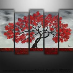 Large Abstract Modern Landscape Tree  Art by Gabriela by Catalin, $279.00