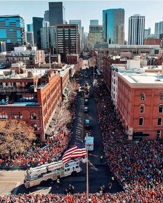 A very festive day in Denver with a million people gathering to celebrate the Broncos win on Sunday. : @casperlundemann