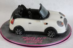 Convertible Mini Car Cake by Kingfisher Cakes, via Flickr