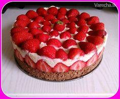 Jahodové rezy (fotorecept) Raspberry, Strawberry, Tiramisu, Cheesecake, Food And Drink, Fruit, Ethnic Recipes, Anna, Cakes