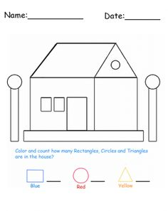 House Shapes Printable Lessons made fun. Give a like!