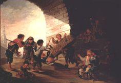 Niños jugando al toro Col. Galdiano