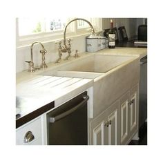 Perrin Rowe Faucet White Marble Ktchen Design, Pictures, Remodel, Decor and Ideas - page 7