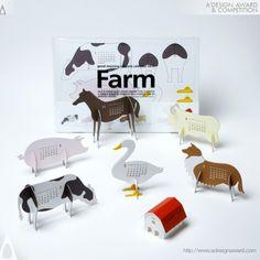 Farm Calendar by Katsumi Tamura #graphicdesign