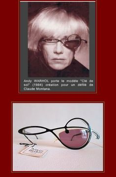 Alain Mikli's 'Treble Clef' frames from a 1984 Claude Montana show. (Gentleman's Breakfast has one!)