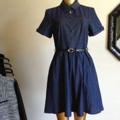 "CLOSET ESSENTIAL DENIM DRESS CLOSET ESSENTIAL DENIM DRESS WITH BUTTONS AND BELT BUST 34""  WAIST 28"" LENGTH 35"" UTTAM BOUTIQUE Dresses Mini"