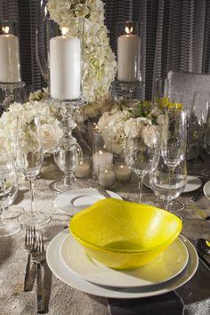 Tablescape for a wedding reception at the Hyatt Regency Los Angeles International Airport
