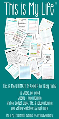 Wow! This is the ULTIMATE planner for moms! So many options. You have to check this out! This is My Life Planners are not dated so its a one time purchase. And even better, the prices start at only $2.95!