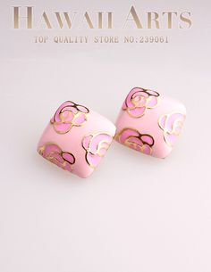 http://www.aliexpress.com/store/product/Trendy-Sweet-Rhombus-Pink-Enameled-Stud-earrings-Feminine-Fashion-Vintage-jewelry-2014/239061_1815522628.html Find More Stud Earrings Information about Brand  New Fashion Gold Plated Rhombus Pink Enameled  Stud Earrings for Women in Jewelry Accessories Wholesale 2014,High Quality Stud Earrings from Hawaii Arts Jewelry