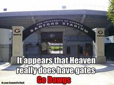 Almost Heaven's Gate Georgia Girls, Georgia On My Mind, Sanford Stadium, Georgia Bulldogs Football, Bulldog Breeds, University Of Georgia, Coach Gifts, Good Ole, Southern Belle