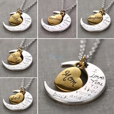 "FREE !!! ""I Love You To The Moon And Back"" Silver Necklace  #sale #promotion #free #follow #newstuff #love"