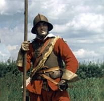 Pikeman - English Civil war Period.  Royalist regiment; Oxford army 1643