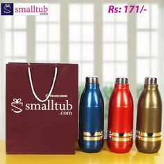 Price is per single piece. free gift bag along with each product.Insulated water bottle is perfect choice/convenient for school, picnics, sports, events and more. Specially developed and designed and has superior look and offers best performance. Birthday Return Gifts, Single Piece, Picnics, Free Gifts, Water Bottle, Events, School, Sports, Bags