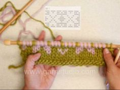Fair Isle - 2 color knitting - continental. In this video we are following a chart back and forth on needles, knitting with two colors. The ...