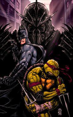 Batman and Raphael Vs. Shredder by DanielDahl.deviantart.com on @DeviantArt