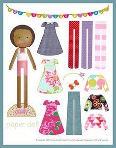 compassion child paper doll