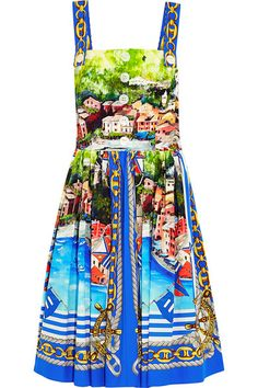 """""""The perfect high summer vacation dress from Dolce & Gabbana, classic dolce vita and flattering for all body types."""" - Sarah Rutson, Vice President of Global Buying #TheRutsonReport"""