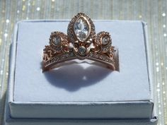 Hey, I found this really awesome Etsy listing at https://www.etsy.com/listing/188531867/rose-gold-tiara-princess-ring-rapunzel