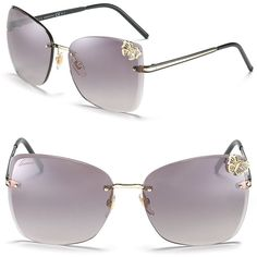 58f04931d5 Gucci Oversized Rimless Butterfly Sunglasses ($395) ❤ liked on Polyvore  Anteojos De Sol,