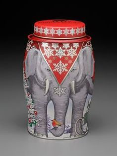 Williamson Tea Christmas edition elephant tin