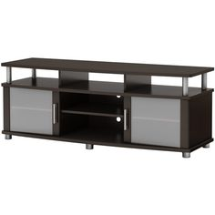 South Shore Furniture - South Shore City Life TV Stand, Pure Black - Entertainment Centers and Tv Stands Brown Furniture, Colorful Furniture, Storage Shelves, Storage Spaces, Media Storage, Black Entertainment Centers, Dining Room Furniture Design, Rooms Furniture, Furniture Storage
