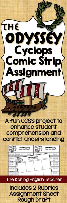 Have your students recapture Odysseus' epic encounter with The Cyclops with this comic strip assignment.
