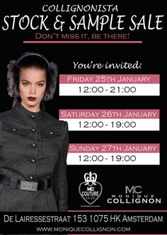 EVENT ALERT: Sample Sale At Monique Collignon