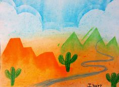 third grade landscape lesson step by step
