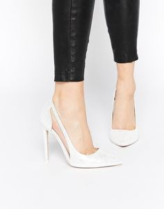Image 1 ofASOS PRODUCTION Pointed High Heels