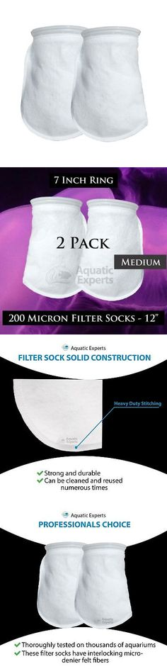 "6 Six Filter Socks 7/"" x 12/"" Felt 200 Micron sock Aquarium Reef Wet Dry Sump"
