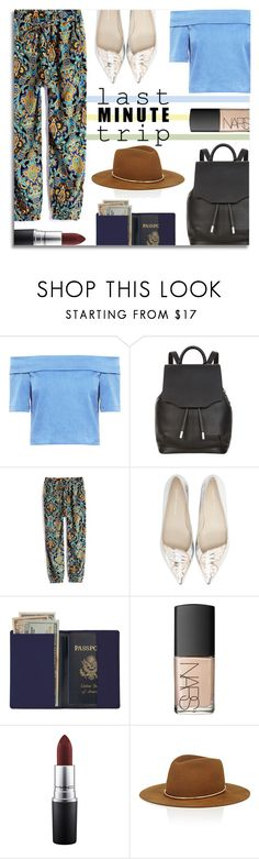"""Last Minute Trip"" by anilovic ❤ liked on Polyvore featuring 3x1, rag & bone, Sophia Webster, Royce Leather, NARS Cosmetics, MAC Cosmetics, Janessa Leone and lastminutetrip"