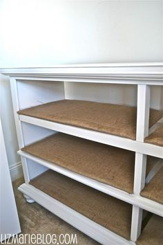 """My """"craft closet"""" has been in some serious need of organization.. I mean, it was really bad. I'm glad I didn't take a before picture of the closet,because it may have been borderline embarrassing. No worries, I did clean my craft closet up with a little help from a beat up dresser… I had this …"""