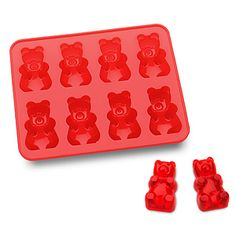 This food-safe silicone tray can be used to make bear-shaped ice for your beverages or bear-shaped foods! Use fruit juice or colored water for colorful bears or chocolate for more natural-looking ones. Ice Cube Trays, Ice Cubes, Ice Tray, Candy Molds, Ice Molds, Soap Molds, Candy Making, Gummy Bears, Cute Food
