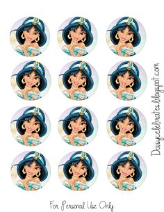 Princes Jasmine Cupcake Aladdin Party, Disney Princess Birthday Party, Girl Birthday Themes, Birthday Parties, Jasmin Party, Princess Jasmine Party, Disney Jasmine, Aladdin And Jasmine, Moldes Halloween